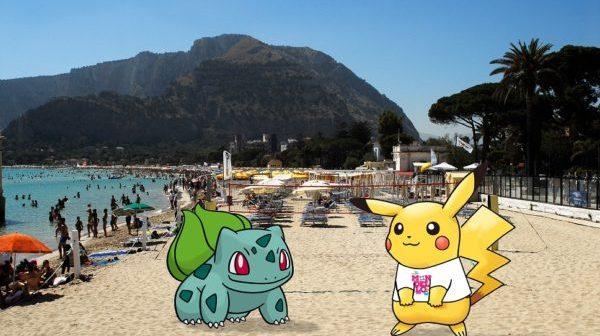 Denuncia -Pokemon go in spiaggia