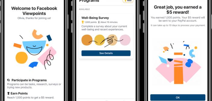 Facebook lancia una nuova app di ricerca con premi in denaro per gli utenti